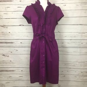 Ruffled button down dress!!!